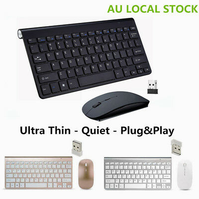 2.4GHz Ultra-thin Wireless Keyboard + Mouse Set For Apple PC iMac Windows 7/10