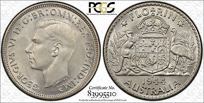 1944-S Australia Florin 2/- PCGS GRADED - MS65 - 510