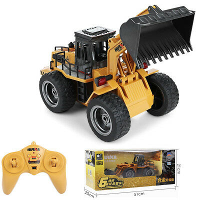 RC Truck Car Metal Bulldozer 2.4G 6CH Wireless Remote Control Toys Gift For Kids