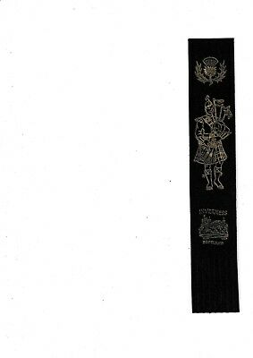 Leather Bookmark - Inverness, Scotland.