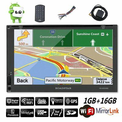 7'' 2DIN Quad Core Android 6.0 GPS WIFI HD Screen Car Radio Stereo CD DVD Player