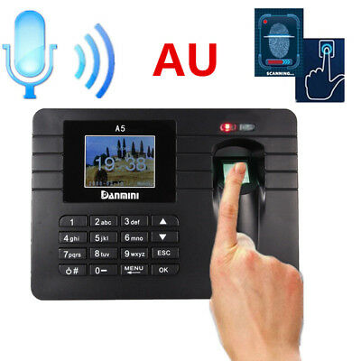 AU Danmini Fingerprint Attendance Machine Time Clock Employee Checking-in Reader