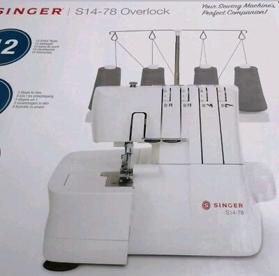 Singer Overlocker S14-78 + extra 4 overlocker sewing threads