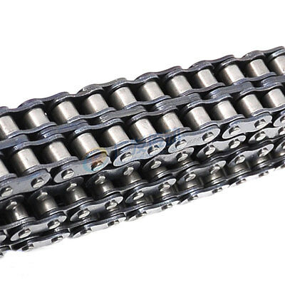 """#40-2 Double Strand Duplex Industrial Roller Chain 1/2"""" 08A-2 Chain * 1.5M"""