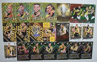 2018 AFL Trading Cards Richmond Tigers [72] Includes Hall of Fame