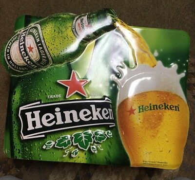Vintage Original Heineken Advertisment Sign