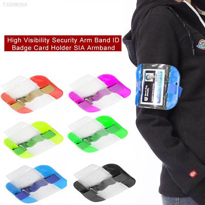 8394 767D PVC High Visibility Practical Id Card Holder Arm Band Badge Waterproof