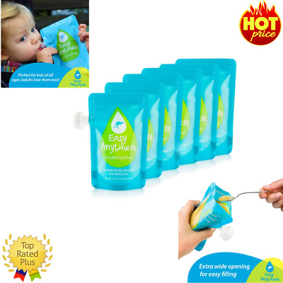 Reusable Food Pouch Perfect for Homemade and Organic Baby Food Large 8 Pack