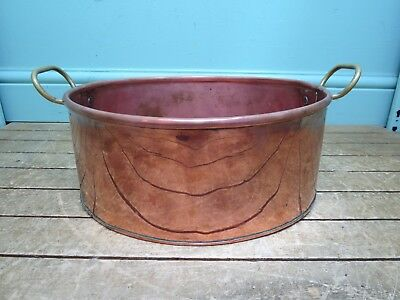 Copper Oval Cooking Pan - 30cm