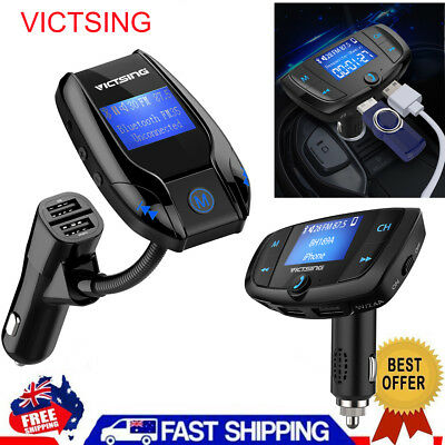 VICTSING Wireless Bluetooth Car Kit FM Transmitter MP3 Player USB Charger Adapte