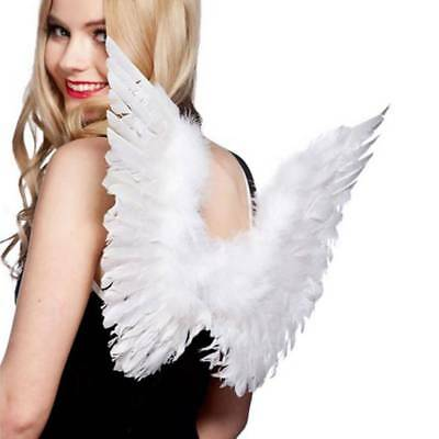 Feather Angel Wings Christmas Fancy Dress Costume Halloween Hen Night White