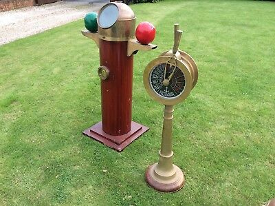 Vintage  Brass  Ships Telegraph Maritime Marine Reproduction