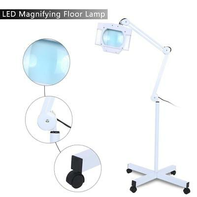 LED 5X Beauty Cosmetic Makeup Magnifying Lighted Magnifier Light Floor AU Plug