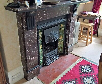 Victorian marble fireplace surround - original in good condition