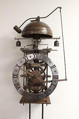 "Medieval Mechanical Brass & Iron Clock - ""Vesperae"" Ancient Da Vinci"