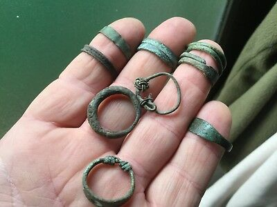 Various Condition Medieval Bronze Rings