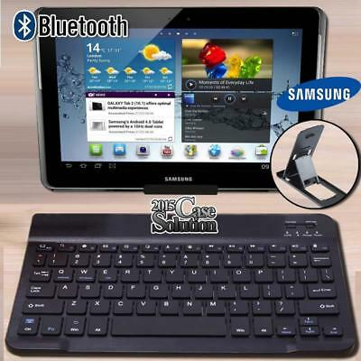 """For 10"""" 12"""" Samsung Galaxy Tab Tablet Wireless Bluetooth Keyboard + Stand Holder"""