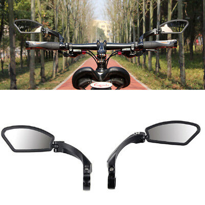 1Pair Bicycle Bike Cycling Handlebar Rear View Rearview Mirror Rectangle Back