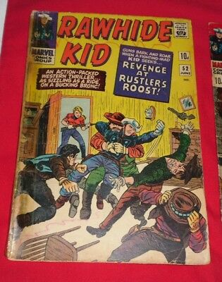 Rawhide Kid #52 VF- (3.5) Marvel Comic 1966 REVENGE AT RUSTLERS ROOST ONLY 2.99