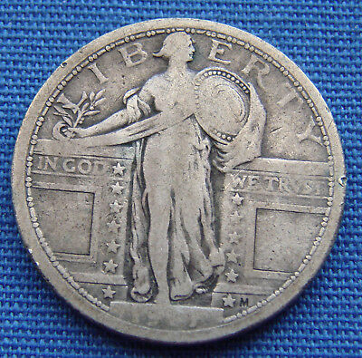 "*nice Looking 1917 Standing Liberty Quarter Type 1 ""good Date"" - Estate Fresh*"