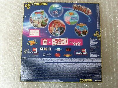 -50% Gutschein Sealife, Legoland, Heide Park, London Eye, Madame Tussauds ...