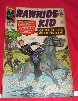 MARVEL_  RAWHIDE_ KID  #53 _1966 VG- 3.0 western AND GREAT START 2.99 !