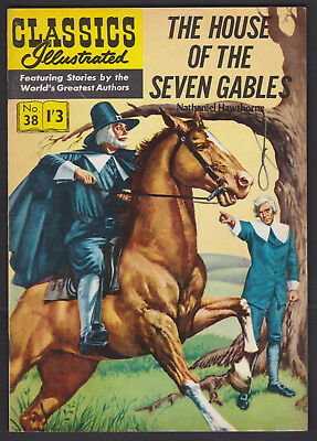 Vintage British Classics Illustrated: HOUSE OF THE SEVEN GABLES No.38 HRN129 1/3