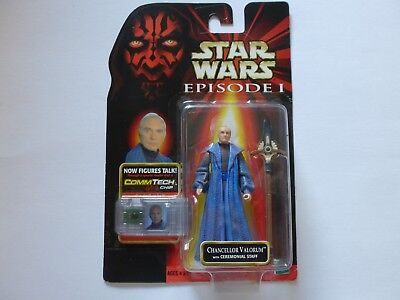 Star Wars Episode 1 Chancellor Valorum  with Comm Tech Chip Hasbro 1998