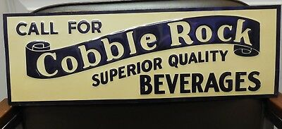 Vintage Cobble Rock superior beverages metal Advertising sign, Woonsocket, RI?