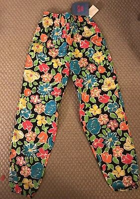 NWT Vintage 90s New Moves Neon Flower Pants - Large