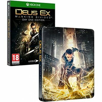 Xbox One-Deus Ex: Mankind Divided Steelbook Xbox One (Uk Import) Game New