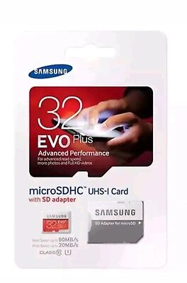 Samsung Micro SD 32GB Card SDHC Evo+80MB/UHS-1 Class 10 And Adapter Genuine