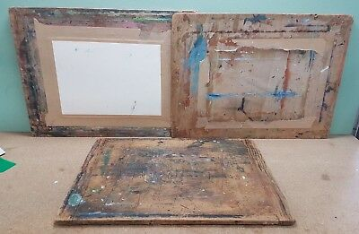 3 Wooden Painting & Drawing Boards