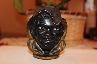 Two-Faced Black Boy (Large) Cast Iron Still Bank, by A C Williams - Circa 1901