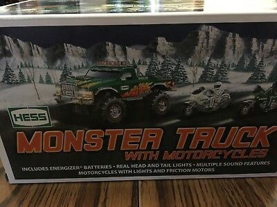 Hess Monster Truck with Motorcycles from 2007 NIB