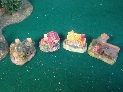 #1;4 X 5mm Buildings, Wargames Terrain, games. Suitable for Z Scale or 1/285th