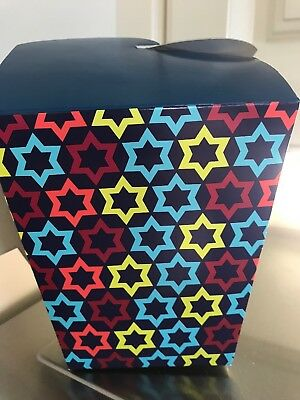 2 Hanukkah Boxes Ribbon Handle Attached Gift Card 5x4.5 Party Favor Box New