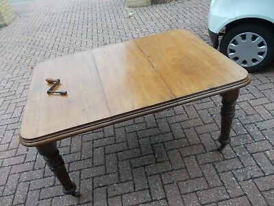 ANTIQUE victorian wind out extending dining table ANTIQUE MAHOGANY with one leaf