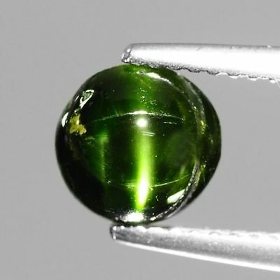 1.73cts Natural Loose Gemstones Round Mix Cabochon Green Kornerupine Cat's Eye