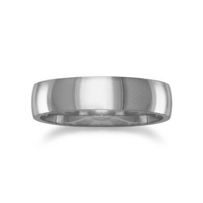316L Surgical Stainless Steel 5mm Band Ring Polished Mens Womens