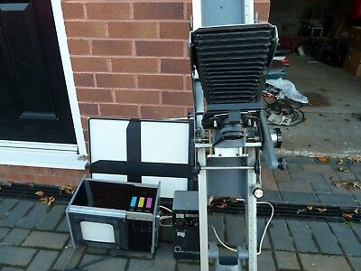omega  wall mounted enlarger 5x4 and bits