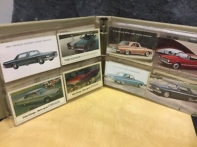 119 Car Dealership Advertising Cards From 1960's to 1981. Several 1940's Hudson