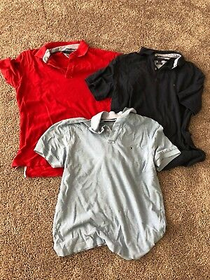 3 Tommy Hilfiger Polos Men's Large various fits