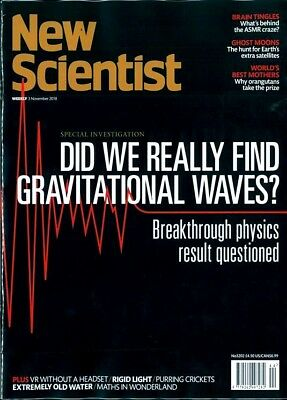 NEW SCIENTIST MAGAZINE 3rd NOV 2018 ~ SPECIAL OFFER BUY ANY 6 ISSUES FOR £10.00
