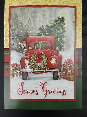 Christmas Card ~ Leanin' Tree ~ Red Truck ~ Old Fashioned~