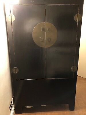 Chinese lacquered wardrobe