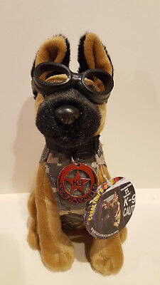 Plush Police Dog with Doogles Badge / Camo Vest K9 NEW WITH TAGS