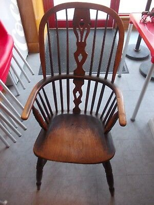 ANTIQUE windsor chair GOOD PATINA no repairs , sound and good original condition