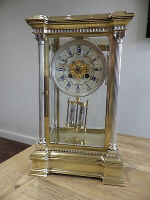 French Crystal Regulator Mantle Clock A Stunning And Rare Example Mint 1890/1920