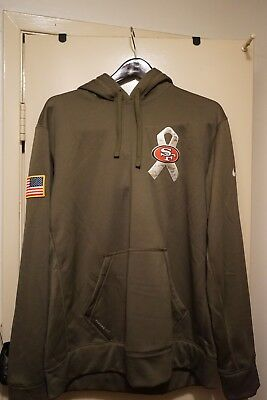 1ea13cf6f SAN FRANCISCO 49ERS Salute to Service Therma Fit Hoodie 2018 Nike ...